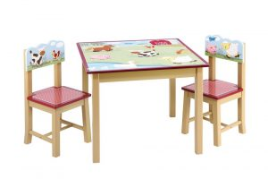 kids table and chair set guidecraft little farm house kids table chairs set
