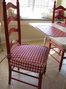 kitchen chair seat covers slips