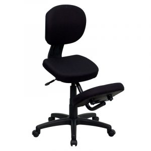 kneeling posture chair flash furniture mobile ergonomic kneeling posture task chair in black fabric w back wl gg