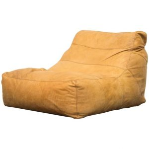leather bean bag chair l