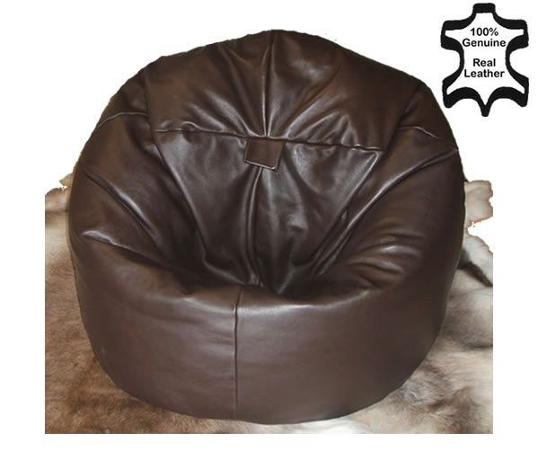 leather bean bag chair