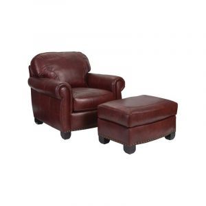 leather chair and ottoman new vintage leather chair ottoman