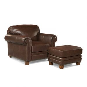 leather chair and ottoman palatial furniture hillsboro leather arm chair and ottoman