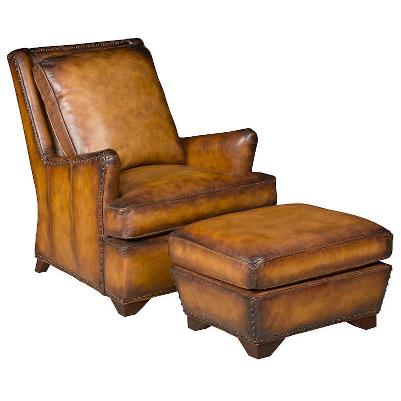 leather chair with ottoman leather chair and ottoman