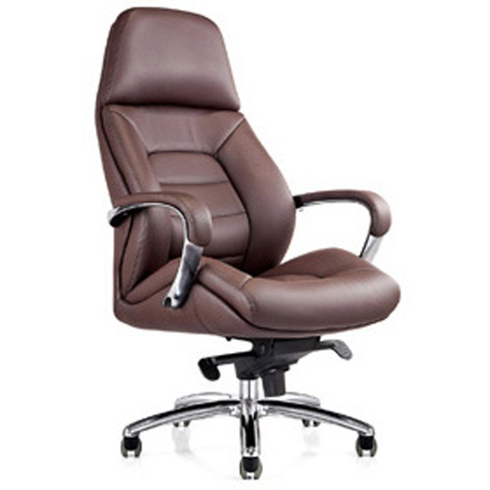leather executive office chair gates genuine leather aluminum base office chair dark brown