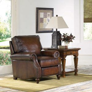 leather livingroom chair bernhardt murphy recliner