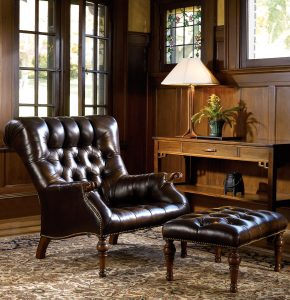 leather livingroom chair stickley leopolds chair