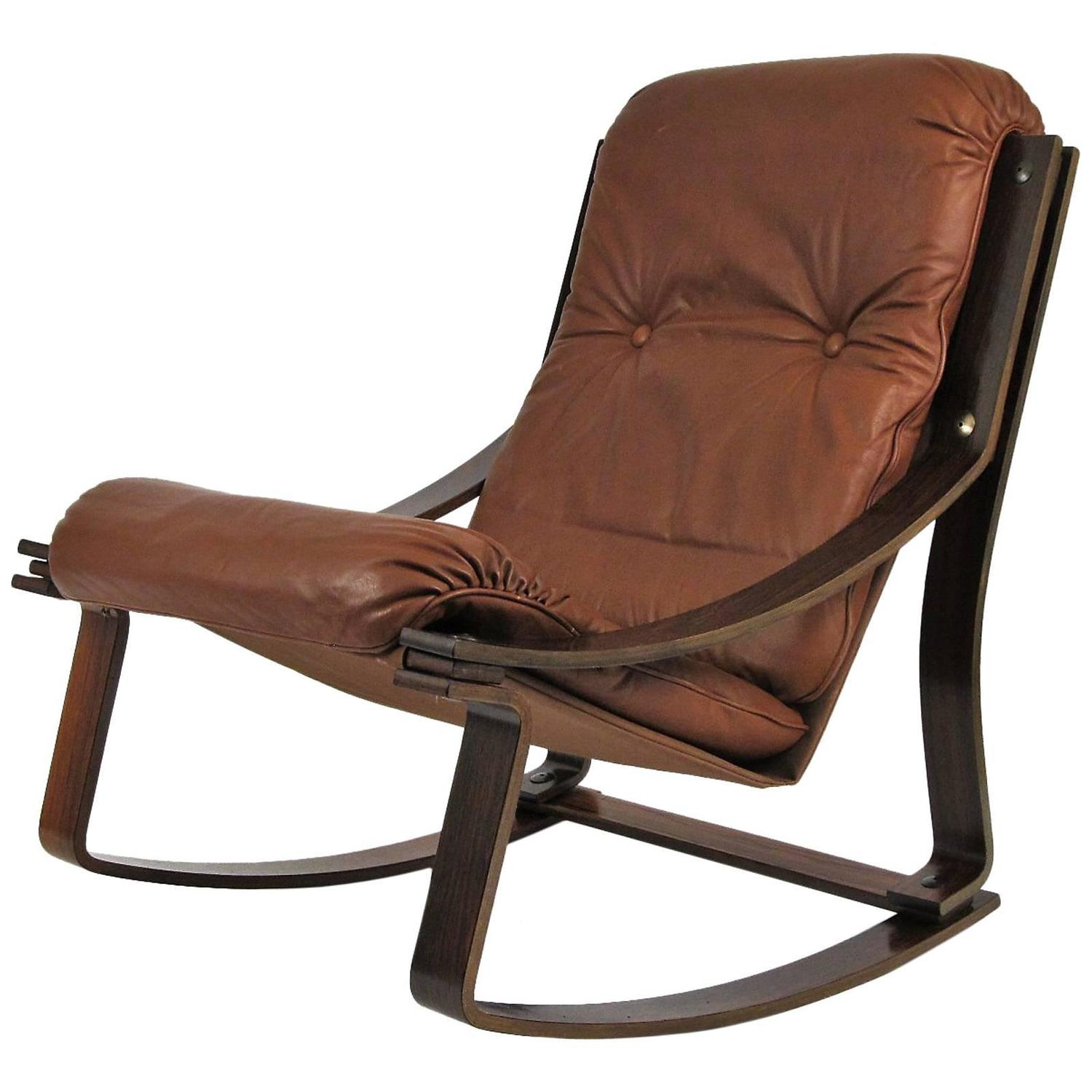 leather rocking chair z