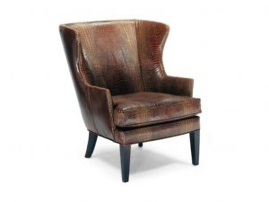 leather wing chair l c