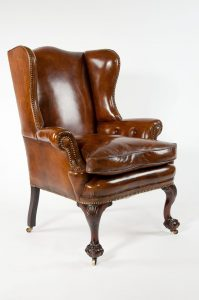 leather wing chair leather wing chair
