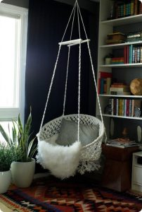 macrame hanging chair diy hanging macrame chair