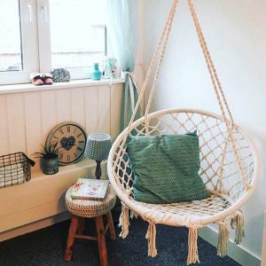 macrame hanging chair hanging cotton rope macrame hammock chair swing outdoor garden hanging macrame chair l aeefd