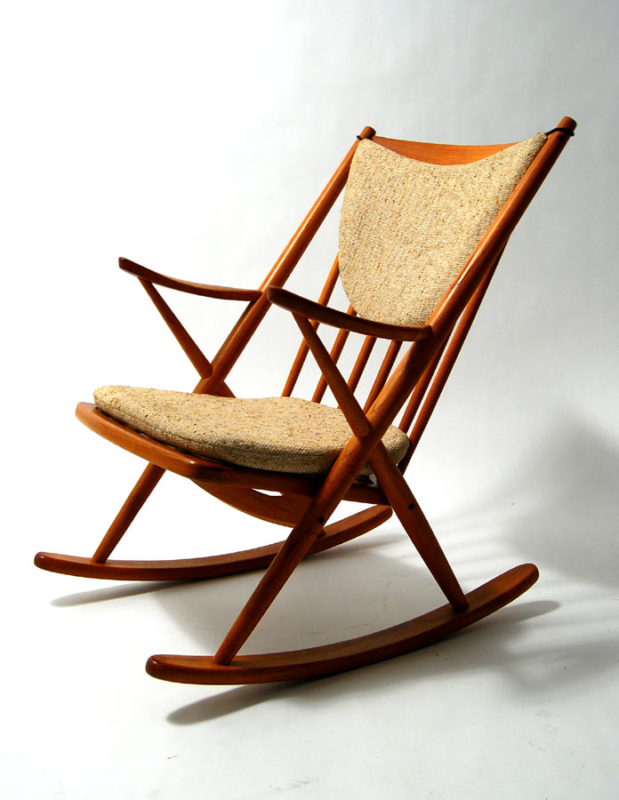 mid century rocking chair wooden mid century modern rocking chair
