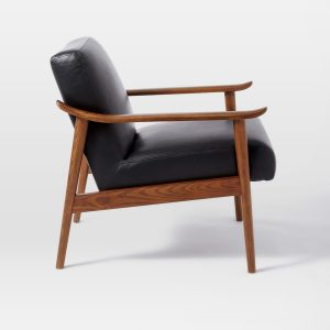mid century wood chair media
