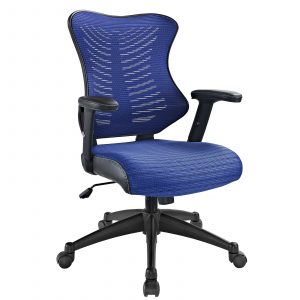 modway office chair modway clutch office chair in blue