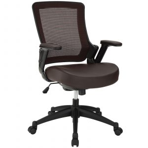 modway office chair modway veer office chair in brown