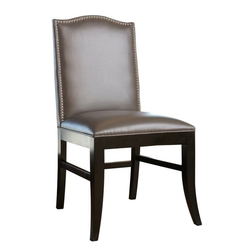 nailhead trim dining chair l