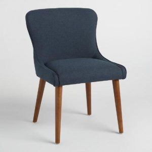 navy wingback chair xxx v