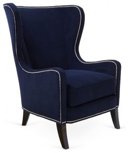 navy wingback chair contemporary armchairs and accent chairs