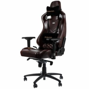 noble gaming chair epicrealleather blackbrown