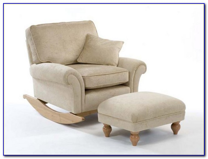nursing chair and ottoman