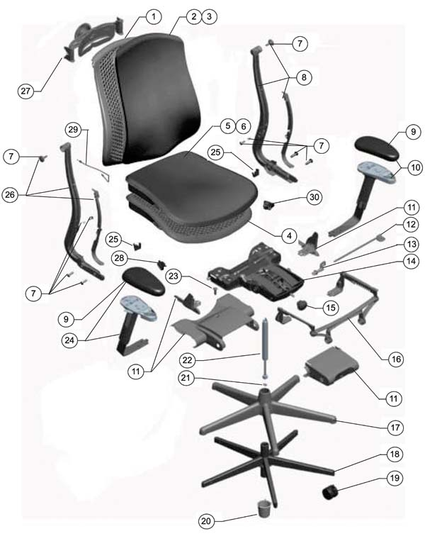 office chair replacement parts