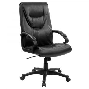 office swivel chair leather ajustable high back executive swivel office chair