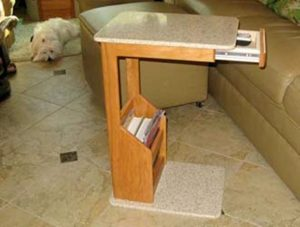 over chair table slide under sofa table tray