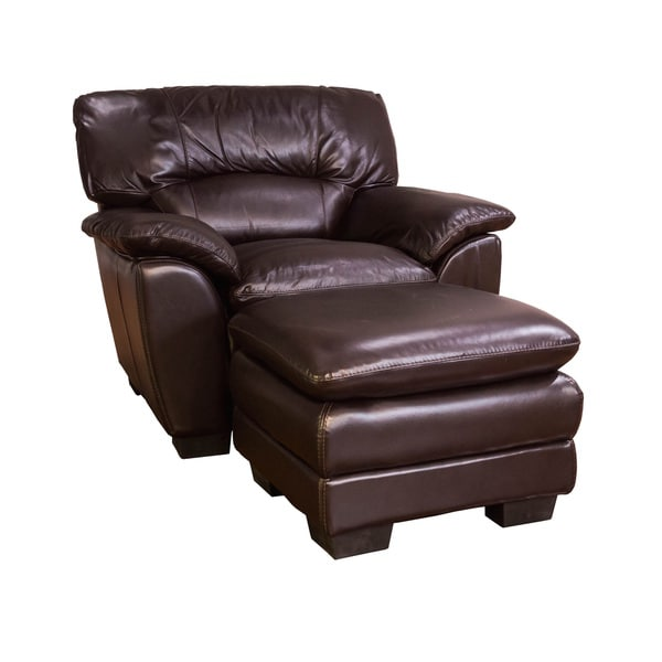 oversized chair and ottoman somette oversized chocolate leather chair and ottoman set bb ad d af afdda