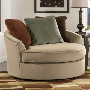 oversized round swivel chair sd