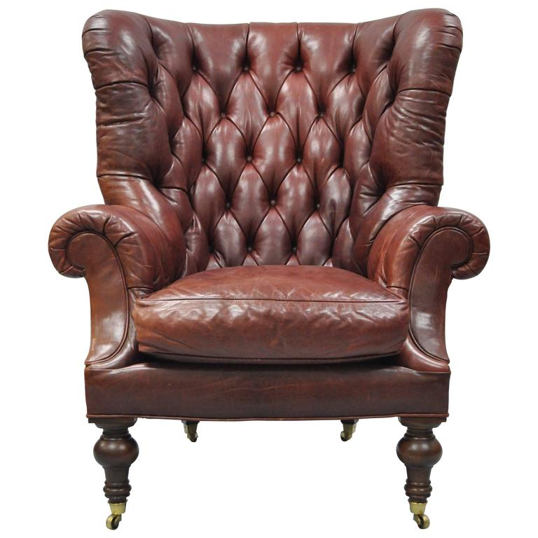 oversized tufted chair