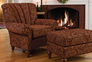 overstuffed chair and ottoman kingfield chair and ottoman