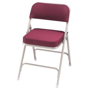 padded folding chair national sleek magenta folding padded chairs