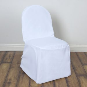 party chair cover chair banq wht