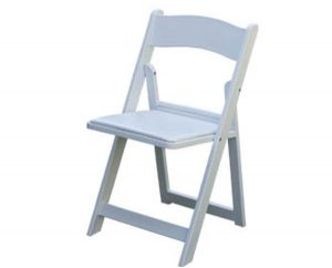 party rental chair foldingchairspaddedwhite