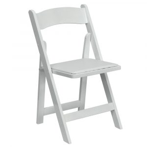 party rental chair white padded chair rental