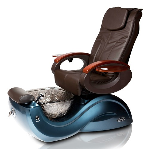 pedicure spa chair toepia gx blue nickle chocolate