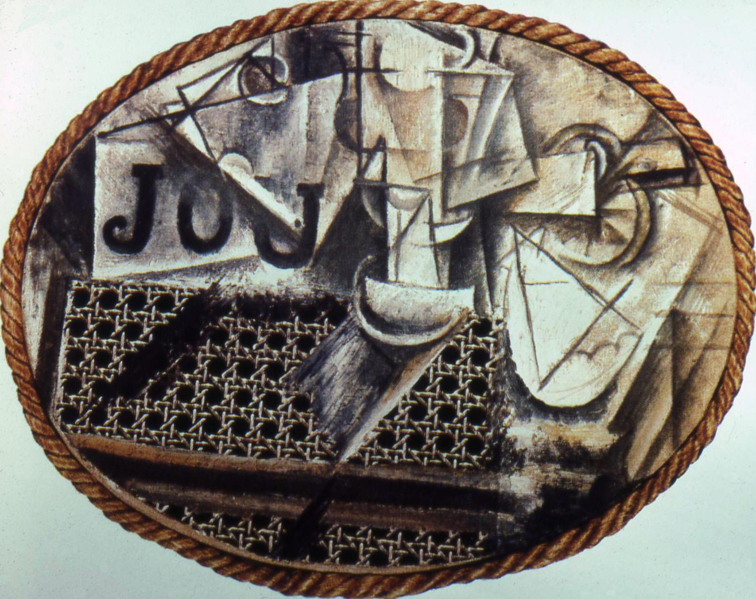 picasso still life with chair caning
