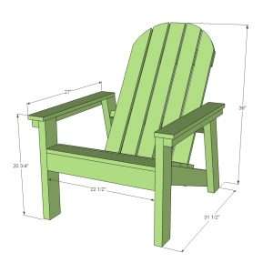 plan for adirondack chair