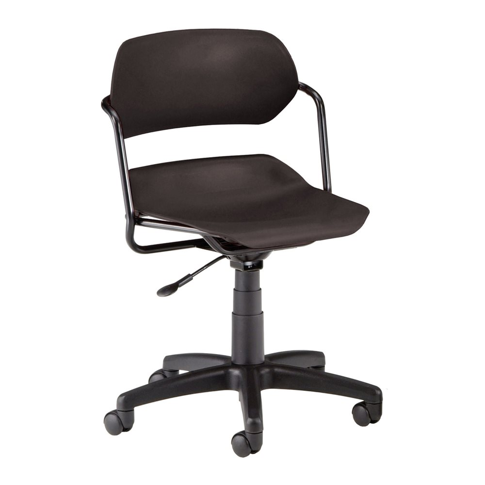 plastic desk chair blk blk