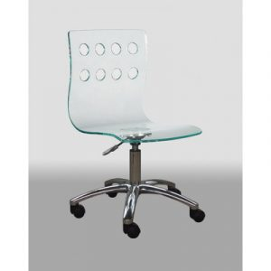 plastic desk chair creative images international low back acrylic office chair