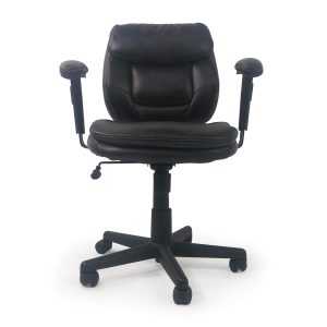 plush office chair plush faux leather office chair