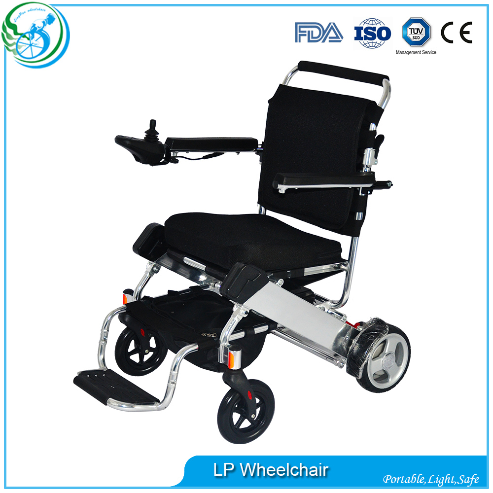 portable electric wheel chair light portable handicapped folding electric wheelchair