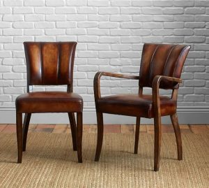 pottery barn leather chair elliot leather chair c