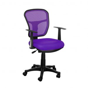 purple computer chair purple mesh back desk chair with simple arms design