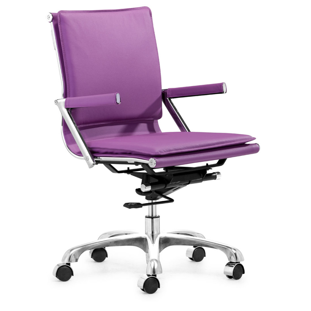 purple computer chair
