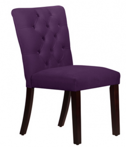purple dining room chair purple tufted mor dining chair