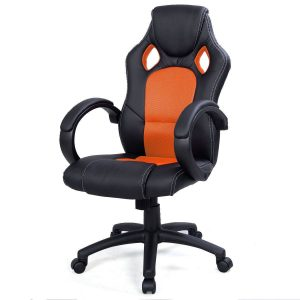 racing computer chair desk office chair race car style bucket seat orange