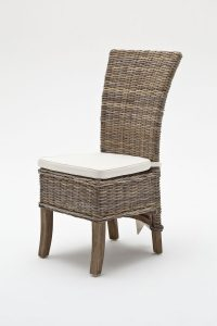 rattan dining chair belgravia wing back rattan dining chairs with cushion new