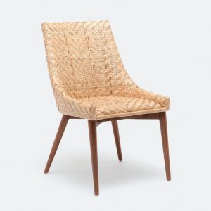 rattan dining chair blonde
